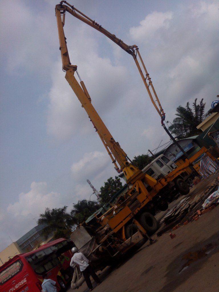 Đổ bê tông Nam Visai tại Bến xe Miền Đông – Bình Thạnh – Tp HCM
