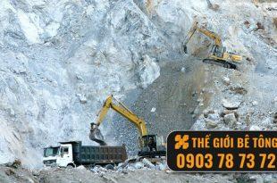 khai thác đá xây dựng